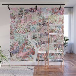 Washington map flowers Wall Mural