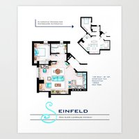 Jerry Seinfeld Apartment Art Print