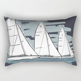 Sailbot Racing Buzzards Bay Rectangular Pillow