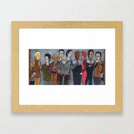 Deep Space Gang Framed Art Print