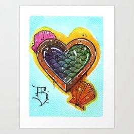 Fish Heart Art Print