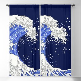 Great Blue Wave Blackout Curtain