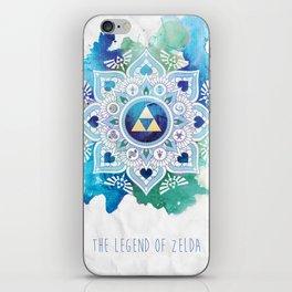 A Legendary Blue/Green Zelda Mandala iPhone Skin