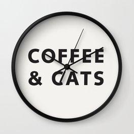 Coffee & Cats Wall Clock