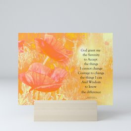 Serenity Prayer Orange Poppy Garden Glow Mini Art Print