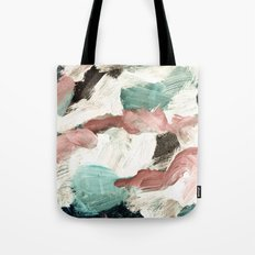 abstract painting VI - green & dusty pink Tote Bag