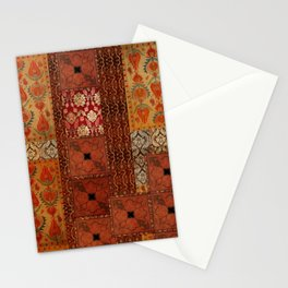 Vintage textile patches Stationery Cards