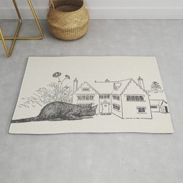 Johnny Crow's garden a picture book - L. Leslie Brooke - 1903 vintage Line Drawing Cat House Rug