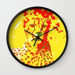 Pop Art Cheetah Wall Clock