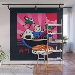 Sushi Retro Fun Wall Mural