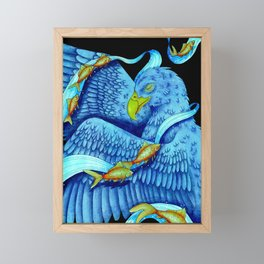 Swim Soar Framed Mini Art Print