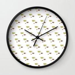 CUP PATTERN Wall Clock