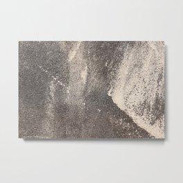 Sandpaper Attrition Rubbing Texture Metal Print