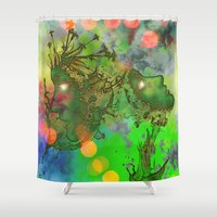 "gemini Shower Curtains featuring "" Gemini "" by shiva camille"