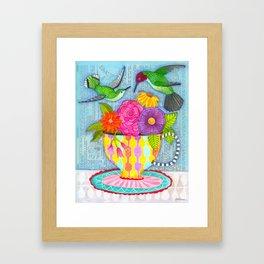 hummingbird tea Framed Art Print
