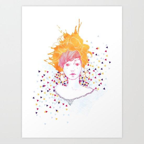 Curlycup Gumweed Art Print
