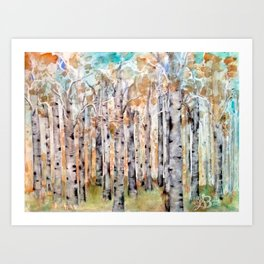 Early Spring Birch Trees #2 Art Print