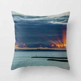 Sunset Behind Catalina Throw Pillow