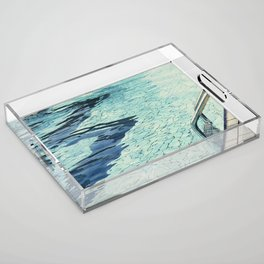 Summertime swimming Acrylic Tray