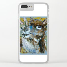 Funny Faces Clear iPhone Case