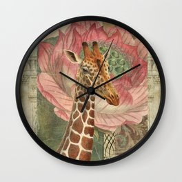 One Chuffed Giraffe Wall Clock