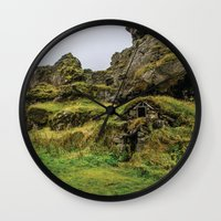 hobbit Wall Clocks featuring Hobbit House by Alex Tonetti Photography