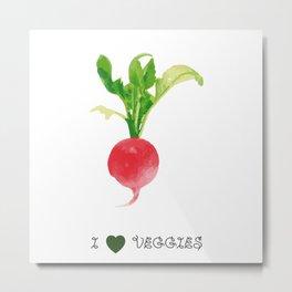 Radish - I love veggies Metal Print