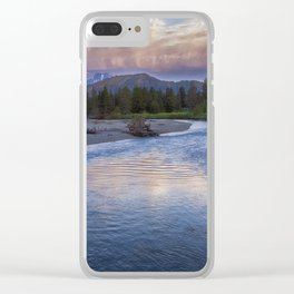 Morning on the Snake River - Grand Teton national Park Clear iPhone Case