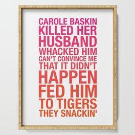 Carole Baskin TikTok Serving Tray