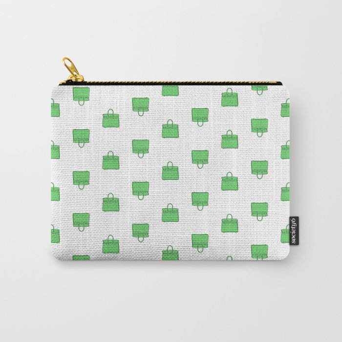 Green Birkin Vibes High Fashion Purse Illustration Carry-All Pouch