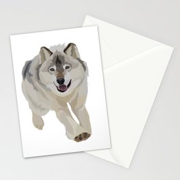 Gray Wolf Good Boy Stationery Cards