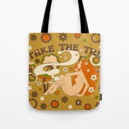 Take The Trip Orange Tote Bag