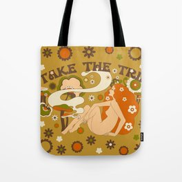 Take The Trip Orange Tote Bag
