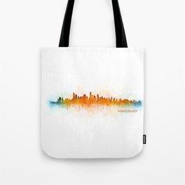 Vancouver Canada City Skyline Hq v03 Tote Bag