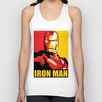 iron man Tank Tops featuring Iron Man by C.Rhodes Design