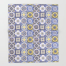 Talavera Ceramics Throw Blanket