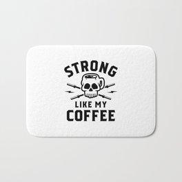 Strong Like My Coffee v2 Bath Mat
