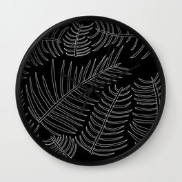 Plant Outline Inverted Wall Clock