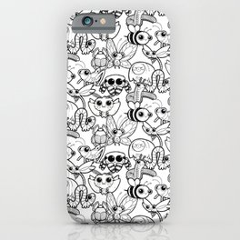 Buggy Friends Black & White Pattern iPhone Case