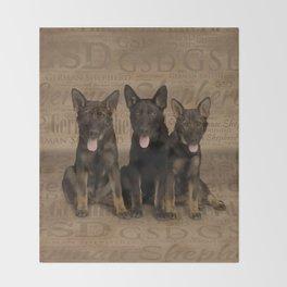 German Shepherd Puppies Throw Blanket