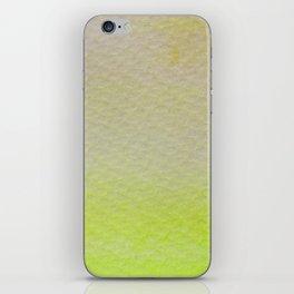 Gradient watercolor - lemon yelllow iPhone Skin