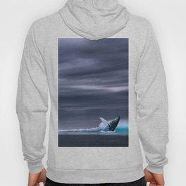 Whale in ocean night Hoody