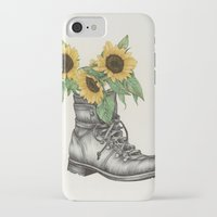 shoe iPhone & iPod Cases featuring Shoe Bouquet I by The White Deer
