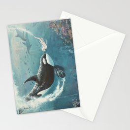 Underwater Love at First Sight Stationery Cards