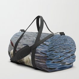 Puppy Stepping on Stones Duffle Bag
