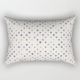 LOTS OF DOTS / linen beige / indigo blue / blue grey / cerulean Rectangular Pillow