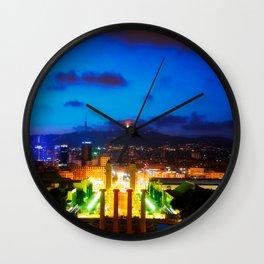 Barcelona. Montjuik Wall Clock