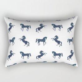Where the blue horses run Rectangular Pillow