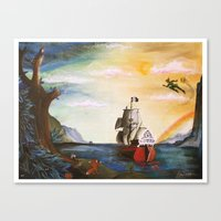 neverland Canvas Prints featuring Neverland by Art by Terrauh