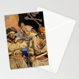 """""""Pirates"""" Treasure Island Cover by NC Wyeth Stationery Cards"""